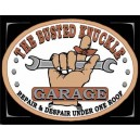 Plaque metal decorative busted knuckle